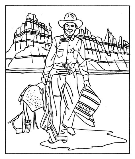 free coloring pages of wild west