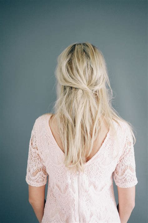 Simple Half Up Half Hairstyles by 15 Simple Hairstyles That Are Half Up Half