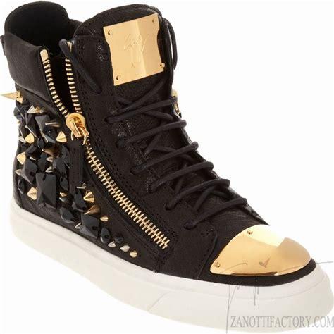 giuseppe zanotti sneakers giuseppe zanotti embellished zip sneakers in