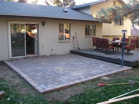 diy paver patio cost amazing paver patio diy 4 build wood deck concrete