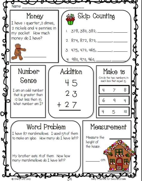 2nd grade grammar christmas math word problems second grade key dual language for gradesecond grade