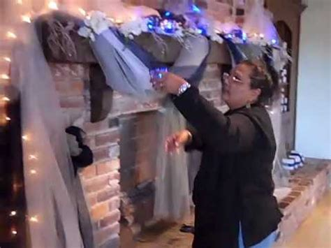 How To Decorate Fireplace Mantel Wedding Decorations Fireplace At Robbins Lodge Fl Youtube