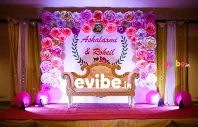 Simple Decorations Best Wedding Reception Engagement Stage Flower