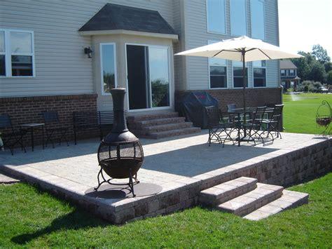 raised paver patio designs raised brick paver patio brick pavers