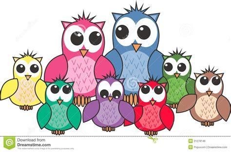 owl family royalty free stock image image 21278146