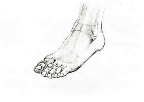 pencil foot drawing