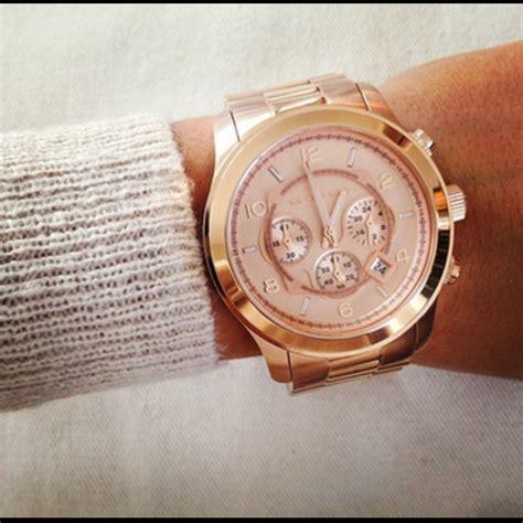 michael kors golden oversized chronograph