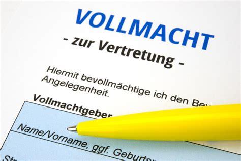 Auto Anmelden Versicherung Andere Person by K 252 Ndigung Weg Vertr 228 Vollmacht F 252 R Verwalter