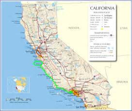 map of california coast the pacific coast highway malibu to monterey