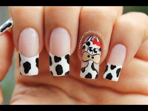 imagenes decorados de uñas con flores youtube decoraci 243 n de u 241 as vaca cow nail art 187 masglee
