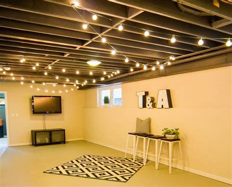 Cool Unfinished Basement Ideas 20 Budget Friendly But Cool Basement Ideas Basement Lighting Basements And Ceilings