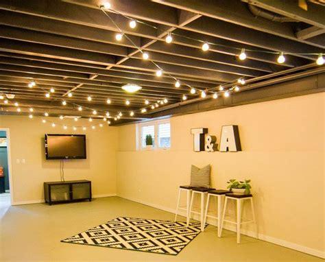 20 budget friendly but cool basement ideas basement lighting basements and ceilings Cool Unfinished Basement Ideas