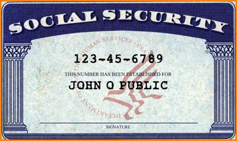 blank social security card template pdf blank social security card template present photoshots