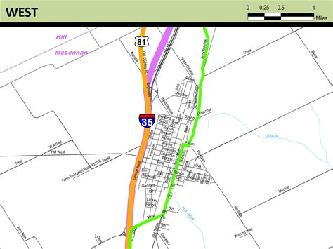 meridian texas map meridian highway maps thc texas gov texas historical commission