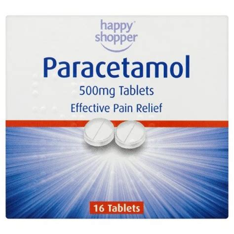 Pamol Tablet 500mg 25 by Happy Shopper Paracetamol 16 Tablet Pack