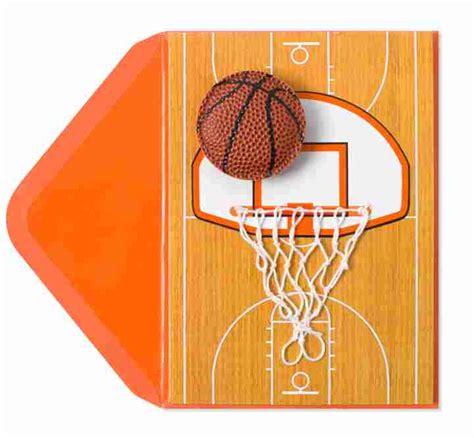 printable birthday cards basketball handmade basketball net birthday cards papyrus