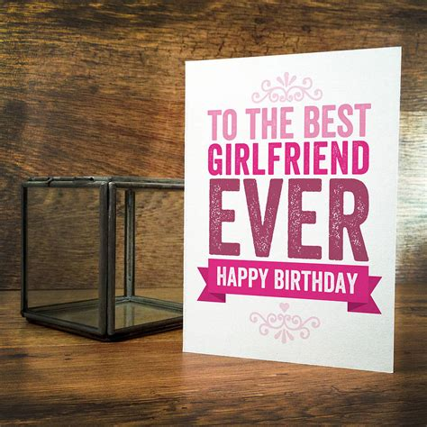 Birthday Gift Card For Girlfriend - best birthday wishes for girlfriend romantic birthday cards