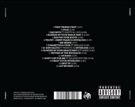 cd song list template stormzy reveals tracklist for debut album signs prayer