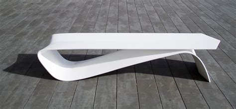 Bench Design by Alfa An Outdoor Bench Shaped Like A Cotter Pin Design Milk