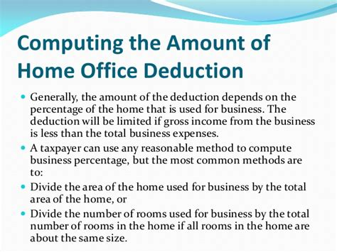 tax tips for the home based business
