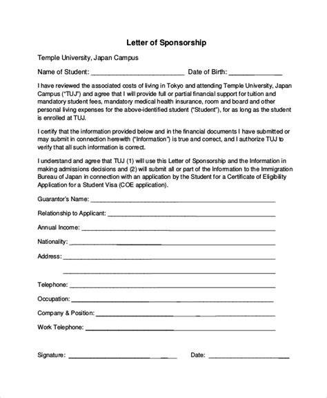 7 Sle Sponsorship Request Letters Sle Templates Sponsorship Request Form Template
