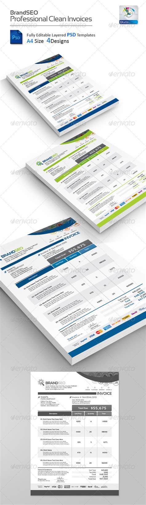 graphic design invoice psd 15 creative template psd download design trends