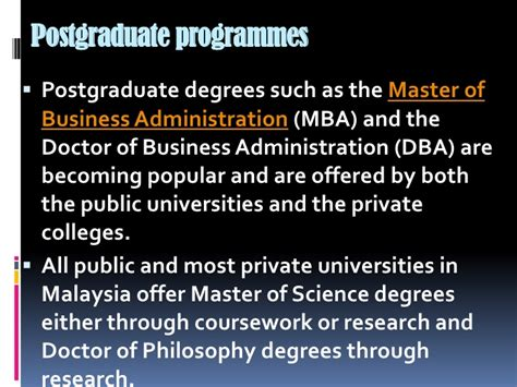 Mba For Doctors In Australia by Malaysia Educational System