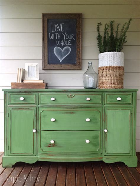 Before And After Green Sideboard Ferpie And Fray Green Buffet Furniture