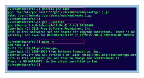tutorial gcc linux ubuntu linux install gnu gcc compiler and development
