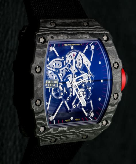 Ntpt Carbon Limited Edition Movement Custom Modified Swiss 7750 F 1 richard mille rm 35 01 rafael nadal ntpt carbon on ablogtowatch