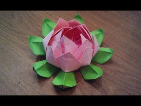 Simple Origami Lotus Flower - origami lotus flower