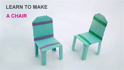 How To Make A Paper Chair - learn to make a paper chair easy steps