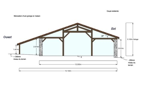 cross sectional drawing cross section drawing existing building planning
