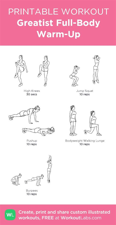 greatist warm up my custom printable workout by