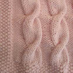 Name knitting baby cable blanket