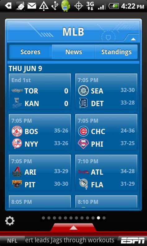 espn android app best android app for sports scores espn scorecenter myappworld