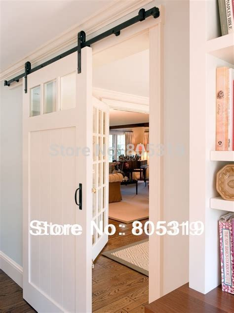 Barn Door Style Hardware 6ft Rustic Black Vintage Sliding Barn Door Hardware European Style Barn Door Sliding Track
