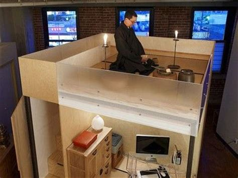 tiny zen living  foot square mobile cube combines office