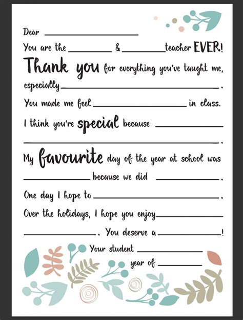 Thank You Letter To Teachers Appreciation 25 Unique Appreciation Letter Ideas On Appreciation Gifts