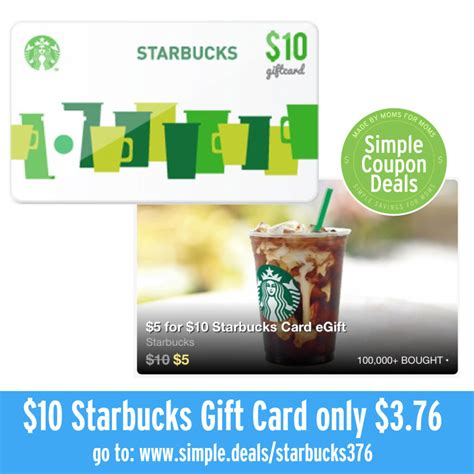 Groupon Gift Card Deals - groupon 10 starbucks gift card for 5 infocard co