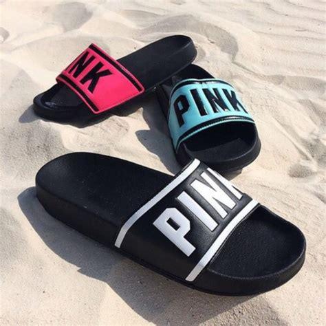 vs slippers shoes pink s secret pink by victorias secret