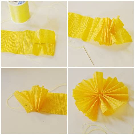 How To Make Crepe Paper Rosettes - birthday hat tutorial