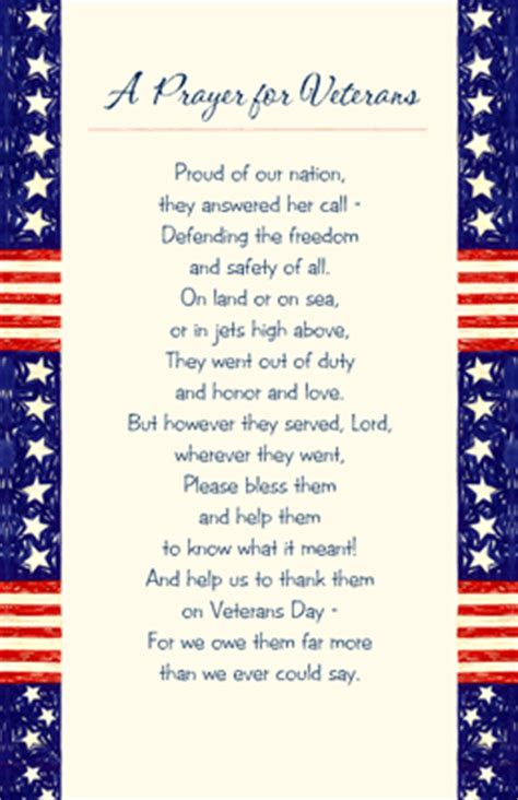 printable veterans day cards a prayer for veterans greeting card veterans day