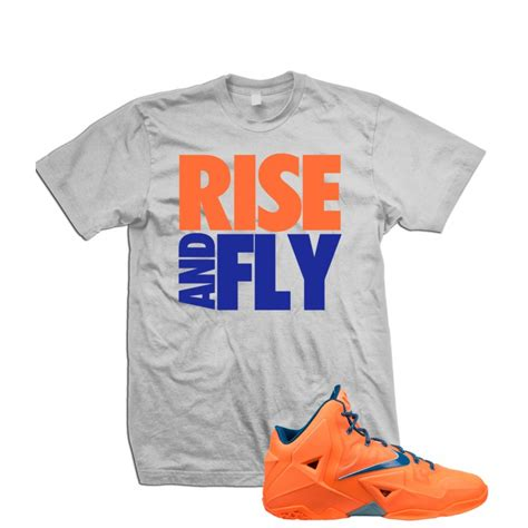 Lebron T Shirt rise and fly lebron 11 quot orange blue quot t shirt
