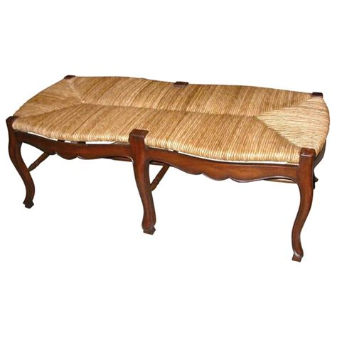 walnut bench seat walnut and rush seat bench for sale at 1stdibs