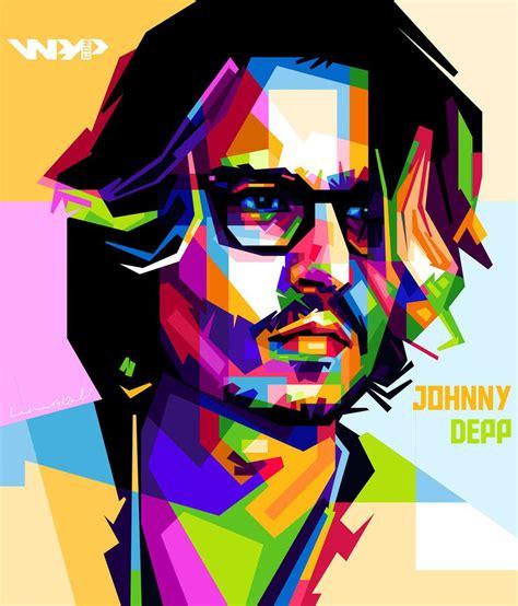 johnny depp wpap by lana1412al on deviantart
