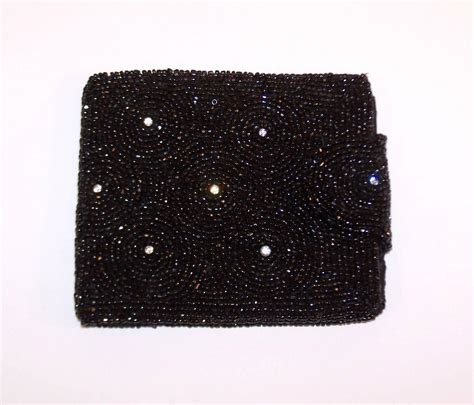 W Magazine Saks Designer Purse Giveaway by 1950 S Saks Fifth Avenue Black Beaded Evening Wallet With