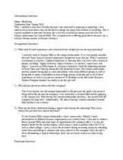 Informational Interview Report Sample Informational Interview Essay Informational Interview
