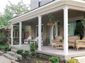 square smooth aluminum columns on residential porch pictures to pin on pinterest