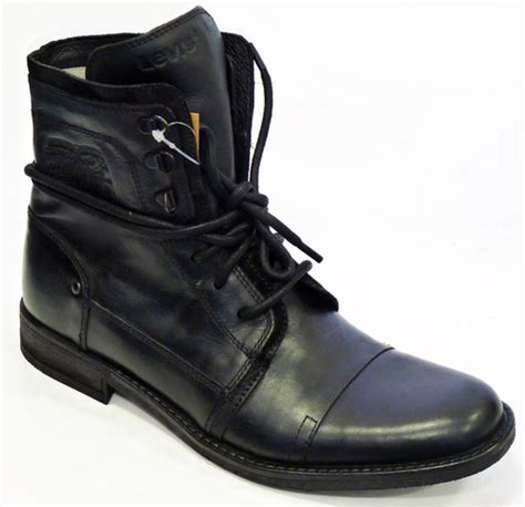 black levi boots levi s 174 worker boots retro leather mod